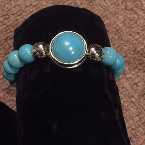 Turquoise color natural stone bracelet